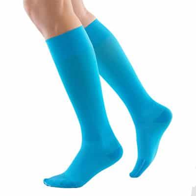 Blå Bauerfeind Compression Socks Bästa kompressionsstrumpan för uthållighet återhämtning och hälsena hälsenor