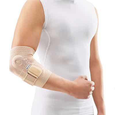 Bauerfeind EpiTrain Natur Armbågsskydd Titan Armbågsstöd som lindrar och stabiliserar armbågsleden