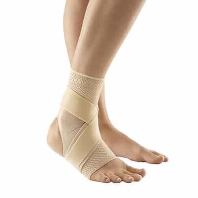 Bauerfeind MalleoTrain S Open Heel Natur Bra och bäst Fotledsstöd Ankelstöd vid sporter barfota eller med skor