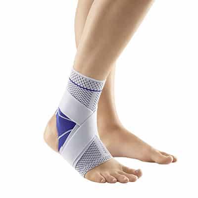 Bauerfeind MalleoTrain S Open Heel Titan Bra och bäst Fotledsstöd Ankelstöd vid sporter barfota eller med skor