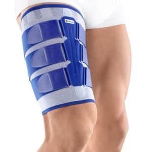 Bauerfeind MyoTrain Lårskydd är framtagen speciellt för Muskelbristningar Spänningar i olika muskler Muskelsträckning och bristningar Skadeförebyggande