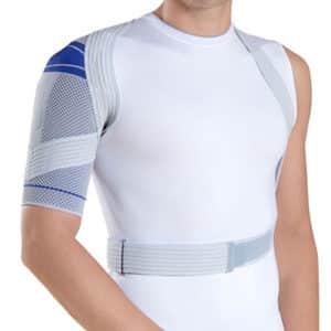 Bauerfeind OmoTrain är ett aktivt axelstöd skydd som masserar och hindrar smärtsamma rörelser