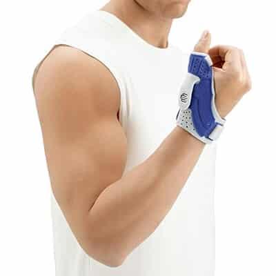 Bauerfeind RhizoLoc är marknadens bästa stöd och skydd för skadade tummar