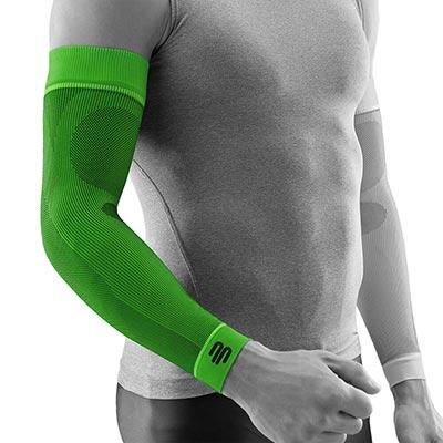 Bauerfeind Sports Armsleeve Compression Sleeves Arm Grön Främjar blodcirkulationen och påskyndar återhämtningen