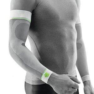 Bauerfeind Sports Armsleeve Compression Sleeves Arm Vit Främjar blodcirkulationen och påskyndar återhämtningen