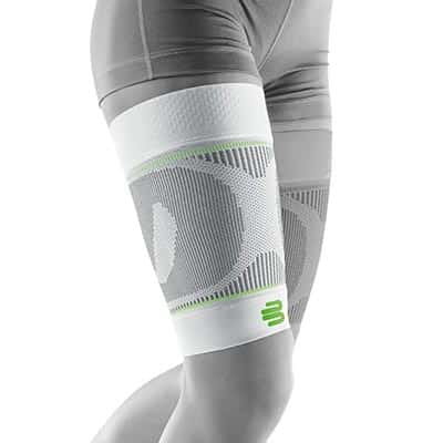 Bauerfeind Sports Compression Sleeves Thigh Lårsleeve Vit Främjar blodcirkulationen och påskyndar återhämtningen