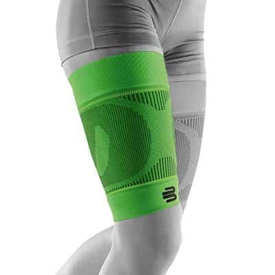 Bauerfeind Sports Compression Sleeves Thigh Lårsleeve Grön Främjar blodcirkulationen och påskyndar återhämtningen