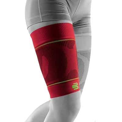 Bauerfeind Sports Compression Sleeves Thigh Lårsleeve Röd Främjar blodcirkulationen och påskyndar återhämtningen