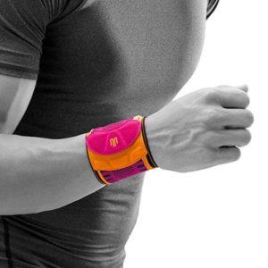 Bauerfeind Sports Wrist Strap Rosa Handledsband som avlastar handleden vid överansträning och svaga handleder. Förebygger även skador