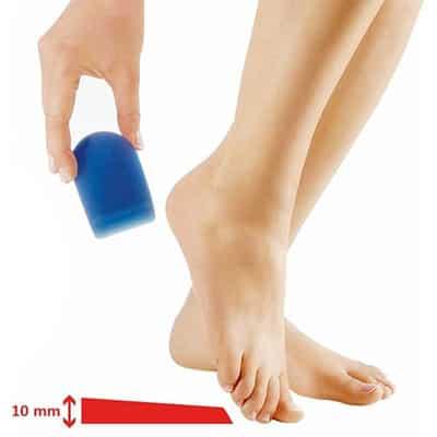 Bauerfeind ViscoBalance Hälkudde som lindrar hälsmärta justerar benlängd bra för hälsenan