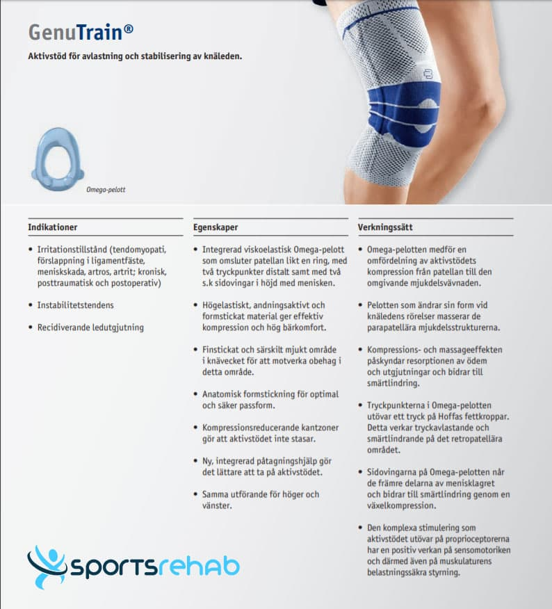 Bauerfeind GenuTrain Knästöd » Sportsrehab.se ⭐️ Hela