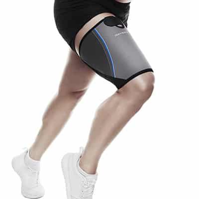 Rehband QD Thigh Support Grå Ger kompression och värme för att göra musklerna mer flexibla och underlätta uppvärmning