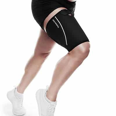 Rehband QD Thigh Support Svart Ger kompression och värme för att göra musklerna mer flexibla och underlätta uppvärmning