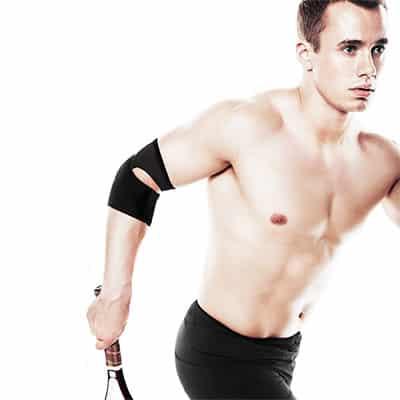 Rehband UD Tennis Elbow Sleeve Svart Ett armbågsstöd för tennis- och golfarmbåge