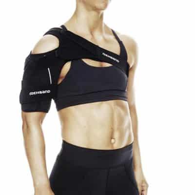 Rehband- UD X-Stable Svart axelskydd Används vid instabilitet, spänning och muskelbristningar av axeln.